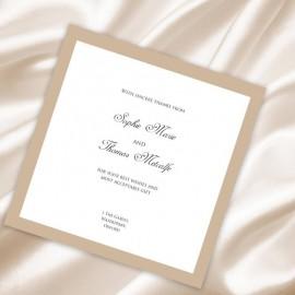 Caramel Diamante Buckle Thank You Card