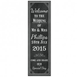 Chalkboard Pop-Up Wedding Sign