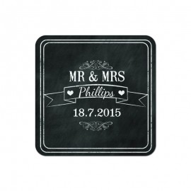 Chalkboard Wedding Coaster - Pack of 24