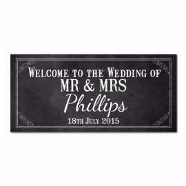 Chalkboard Wedding Banner