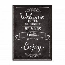 Chalkboard Small Welcome Sign