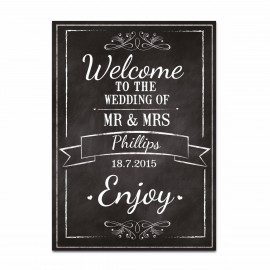 Chalkboard Large Wedding Sign