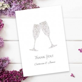 Raise Your Glasses Thank You Card