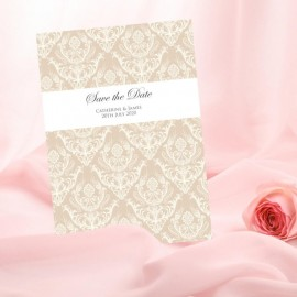 Diamond Heart Save the Date Card