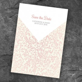 Champagne Save the Date Card