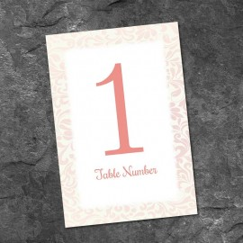 Champagne Table Numbers - Pack of 10