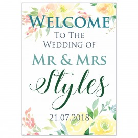Charming Large Wedding Sign