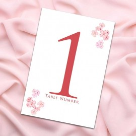 Cherry Blossom Table Numbers - Pack of 10