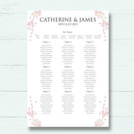 Cherry Blossom Wedding Table Plan