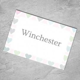 Classic Hearts Table Names - Pack of 10