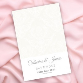 Happiness Damask Save the Date Card