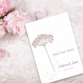 Floral Fantasy Save the Date Card