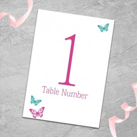 Dazzle Table Numbers - Pack of 10