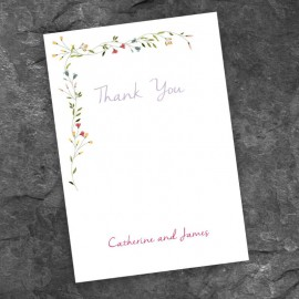 Delicate Thank You Card