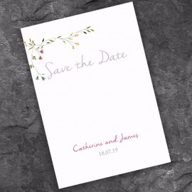 Delicate Save the Date Card