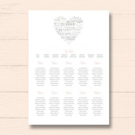Desire Wedding Table Plan