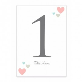Desire Table Numbers - Pack of 10