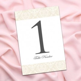 Diamond Heart Table Numbers - Pack of 10