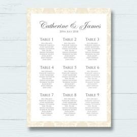Diamond Heart Wedding Table Plan
