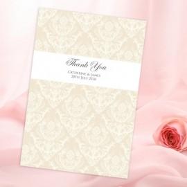Diamond Heart Thank You Card