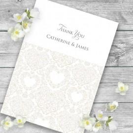 Cream Divine Thank you Card