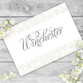 Cream Divine Table Names - Pack of 10
