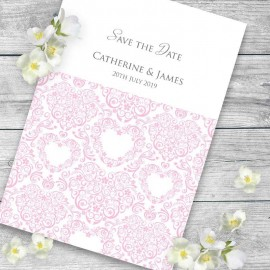 Pink Divine Save the Date Card