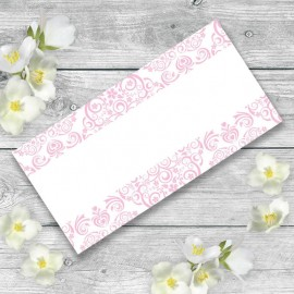 Pink Divine Wedding Place Card