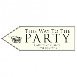 Eat, Drink & Celebrate Wedding Arrow