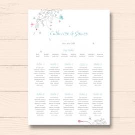 Elegance Wedding Table Plan