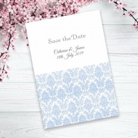 Blue Eternity Save the Date Card