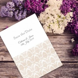 Champagne Eternity Save the Date Card