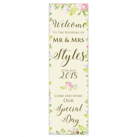Fleur Pop-Up Wedding Sign