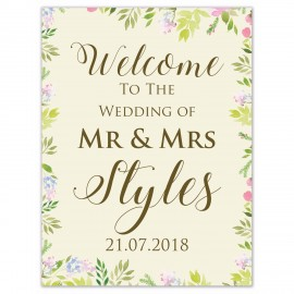 Fleur Small Welcome Sign
