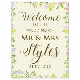 Fleur Large Welcome Sign