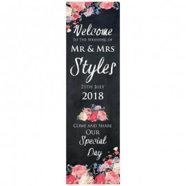 Floral Chalkboard Pop-Up Wedding Sign