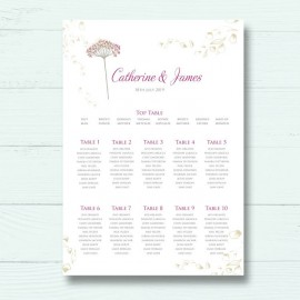 Floral Fantasy Wedding Table Plan