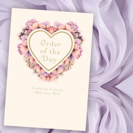 Floral Heart Order of Service