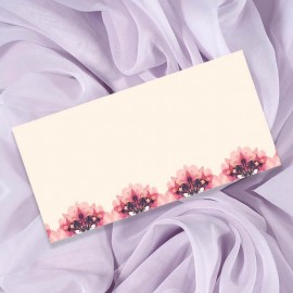 Floral Heart Wedding Place Card