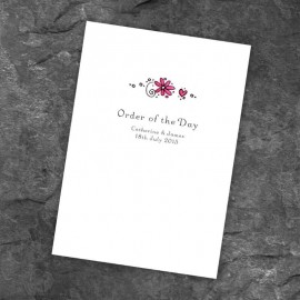 Wedding Bliss Order of Service