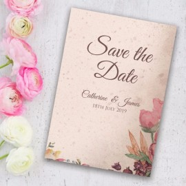 Ticket To Love Save the Date Card