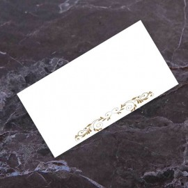 Fluted Heart Wedding Place Card