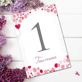 Follow Your Heart Table Numbers - Pack of 10