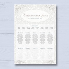 From This Day Wedding Table Plan
