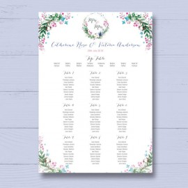 Godiva Wedding Table Plan