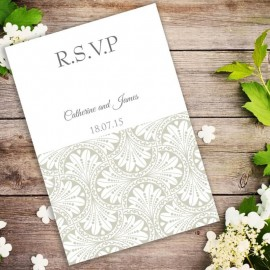 Gold Art Deco RSVP Card