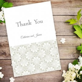 Gold Art Deco Thank You Card