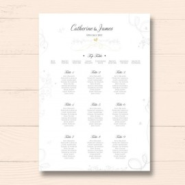Gold Essence Wedding Table Plan
