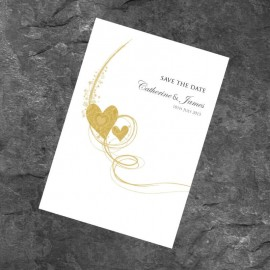 Gold Essence Save the Date Card