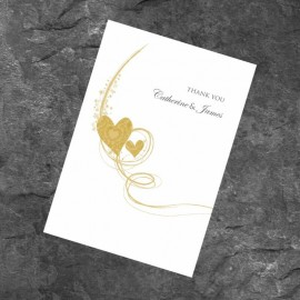 Gold Essence Thank You Card